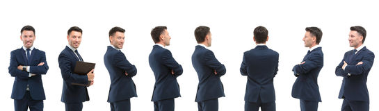 Collection of full length portraits of businessmen Royalty Free Stock Images