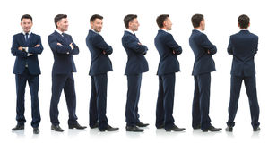 Collection of full length portraits of businessmen Stock Images