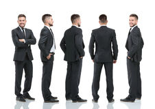Collection of full length portraits of businessmen Royalty Free Stock Photo