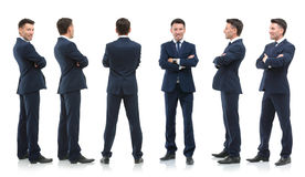 Collection of full length portraits of businessmen Royalty Free Stock Photos