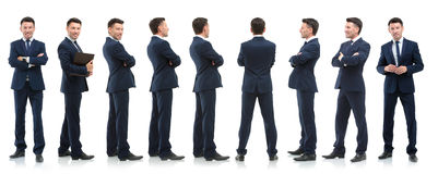 Collection of full length portraits of businessmen Stock Image