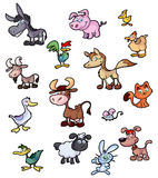 Collection of fun cartoon animals Stock Photo