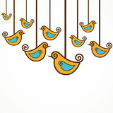 Collection of funny birds. Stock vector Royalty Free Stock Photos