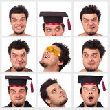 Collection of a funny guy. Isolated on white Stock Photography