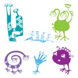 Collection of funny monsters for your design Royalty Free Stock Photography