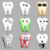 A collection of funny toothy smileys. royalty free illustration