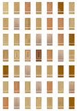 Collection of furniture fronts Stock Photos