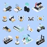 Collection futée d'icônes de production illustration libre de droits