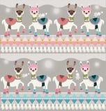 Collection géométrique de bannière avec les effets au néon illustration stock