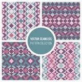 Collection géométrique sans couture de modèle de Truchet de vecteur Images libres de droits
