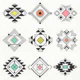 Collection géométrique tribale d'éléments Photos stock
