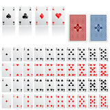 Collection of game card vector royalty free illustration