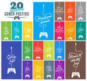 Collection of Gaming Related Posters Royalty Free Stock Photo