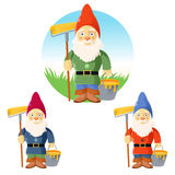 Collection of garden gnomes Stock Image