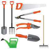 Collection of gardening tools,  Royalty Free Stock Image