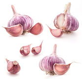 Collection of Garlic Stock Photography