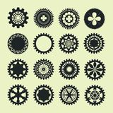 Collection of gear vintage Stock Images