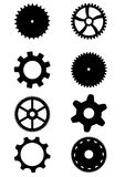 Collection of gears Stock Photos