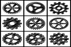 Collection of gears Royalty Free Stock Photography