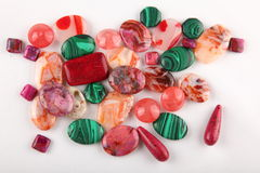 Collection of gemstones Royalty Free Stock Images