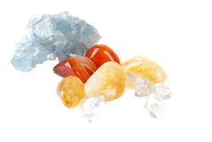 Collection of   gemstones Royalty Free Stock Photography