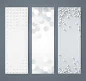 Collection of geometric background banner. Royalty Free Stock Photos
