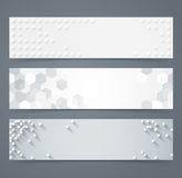 Collection of geometric background banner. Royalty Free Stock Images