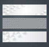 Collection of geometric black and white banner. Royalty Free Stock Photography