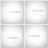 Collection geometric gray background molecule and Stock Images