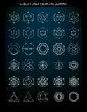 Collection of geometric icons Stock Photography