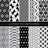 Collection of 10 geometric seamless pattern background Royalty Free Stock Images