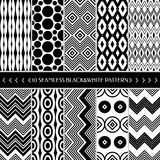 Collection of 10 geometric seamless pattern background Royalty Free Stock Photography