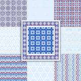 Collection geometric seamless  pattern. Stock Photos