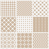 Collection of geometric seamless patterns Royalty Free Stock Photography