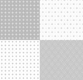 Collection geometric seamless patterns. Stock Photos