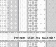 Collection geometric seamless patterns. Royalty Free Stock Images