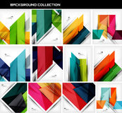 Collection of geometric shape abstract backgrounds Royalty Free Stock Photo