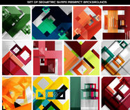 Collection of geometric shape abstract backgrounds Stock Photo