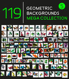 Collection of geometric shape backgrounds. Huge mega collection of 119 geometric shape abstract backgrounds Royalty Free Stock Photos