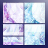 Collection of geometric shape diamond abstract backgrounds Royalty Free Stock Image