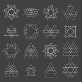 Collection of geometric shapes. Design elements Stock Photos