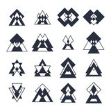 Collection of geometric shapes. Trendy design elements Royalty Free Stock Images