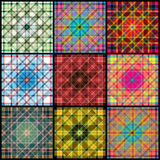 Collection of geometrical patterns. Vector eps 10 royalty free illustration