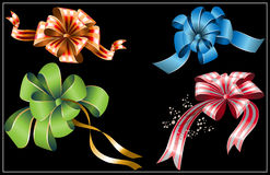 Collection of gift bows Royalty Free Stock Photos