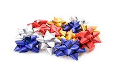 Collection of gift bows Royalty Free Stock Image