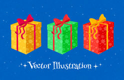 Collection of gift boxes Stock Image