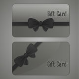 Collection gift cards Stock Image