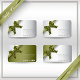 Collection of gift cards with ribbons. Stock Images