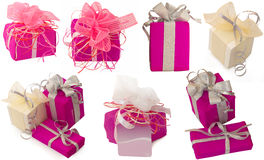 Collection of gifts Royalty Free Stock Images