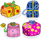 Collection of gifts Royalty Free Stock Photography